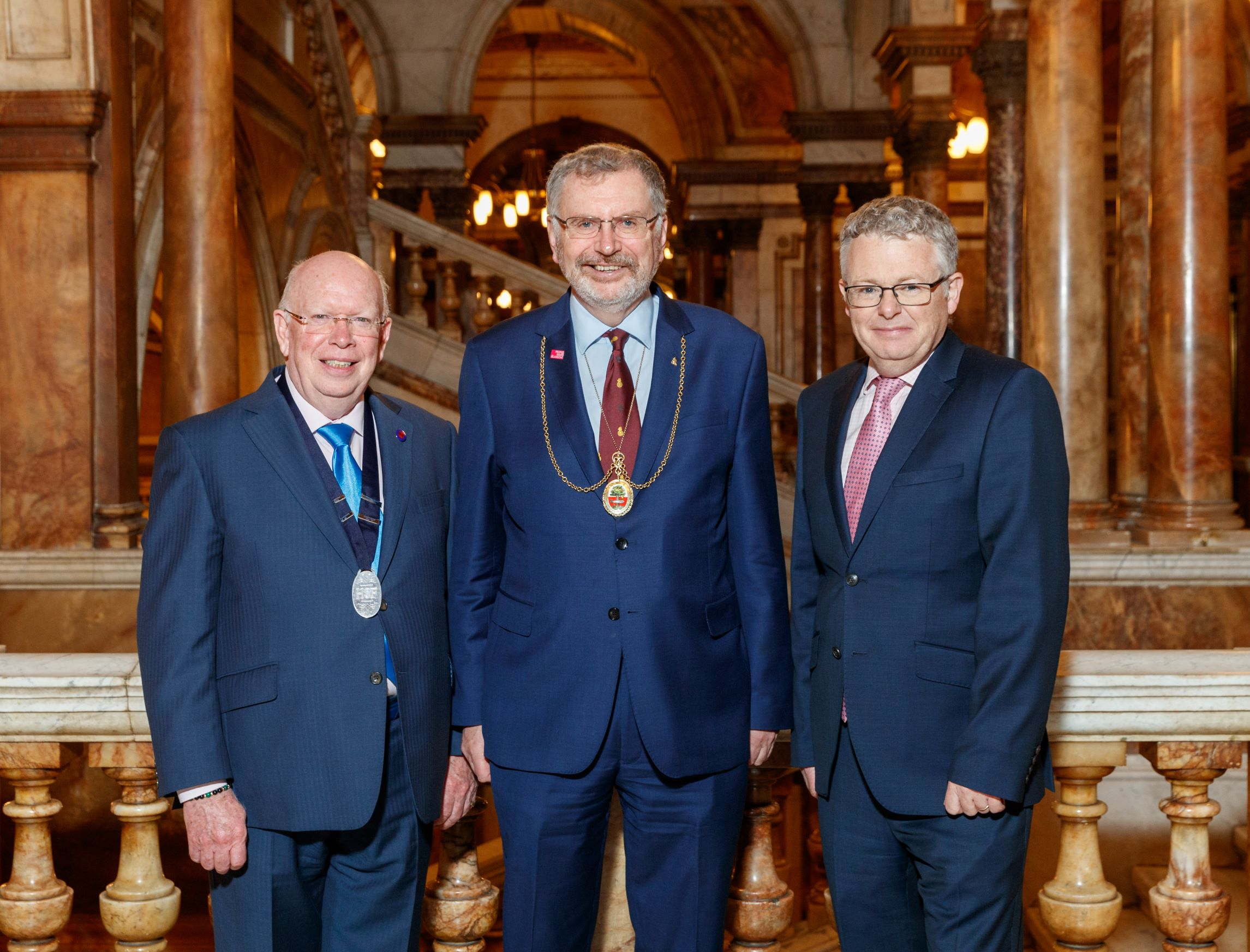John Greenwood, The Hospital Saturday Fund Chairman with Mr Ian Dickson, Lord Dean of Guild and Paul Jackson, The Hospital Saturday Fund Chief Executive