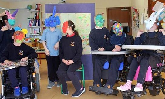 Helium Arts - Group wearing masks