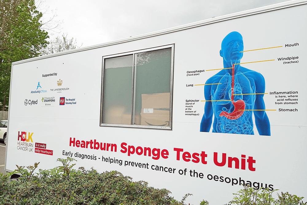 Heartburn sponge test unit